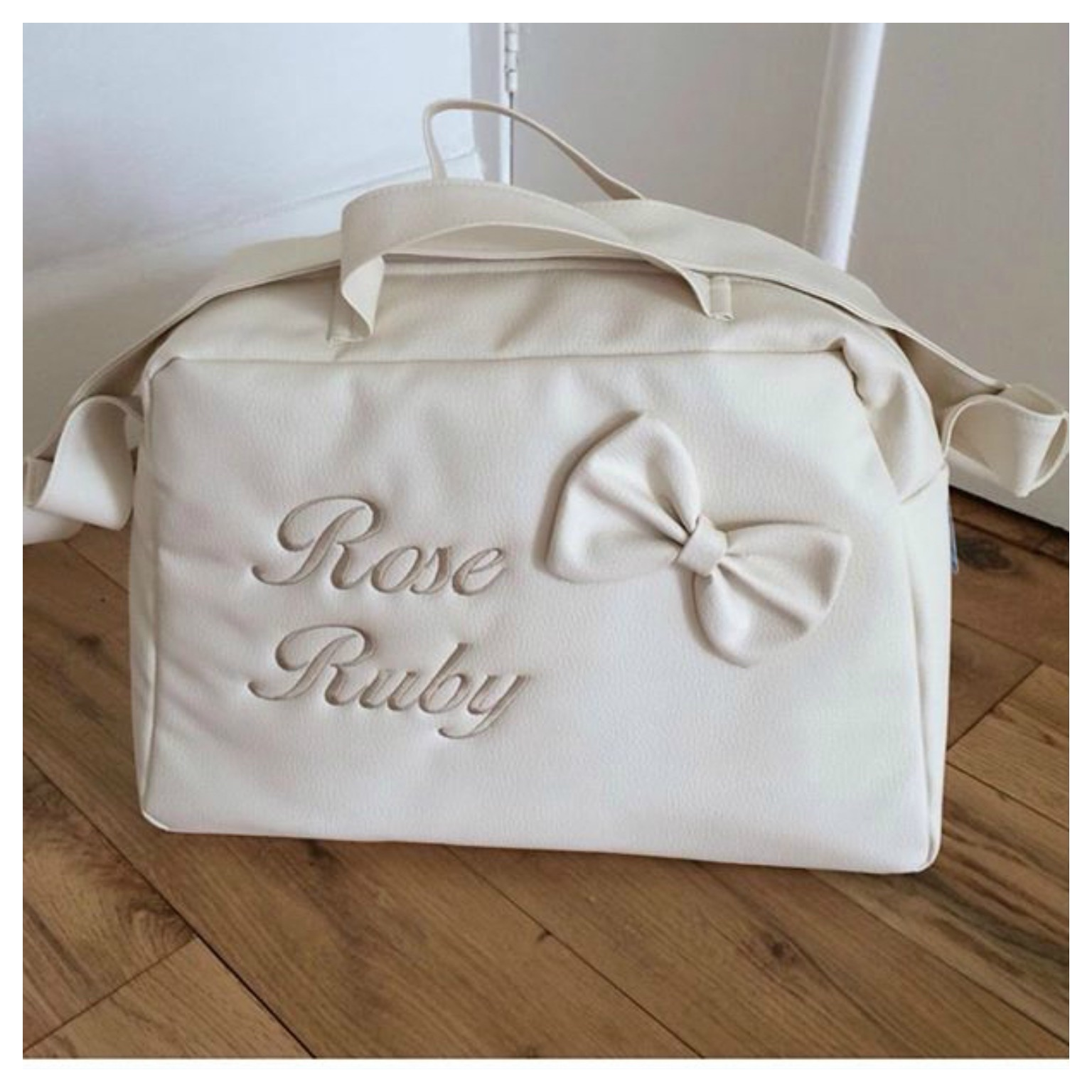 6123b7693c43a Changing Bag Personalised – rubysbowtique